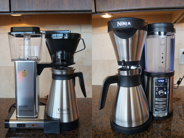 A classic drip brewer from Technivorm and a hybrid brewer from Ninja that offers a single serve option.