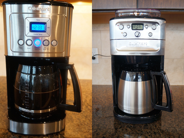 The Cuisinart Perfect Temp offers a slew of programmable features, as does the Cuisinart Burr & Grind which also has a built-in grinder.
