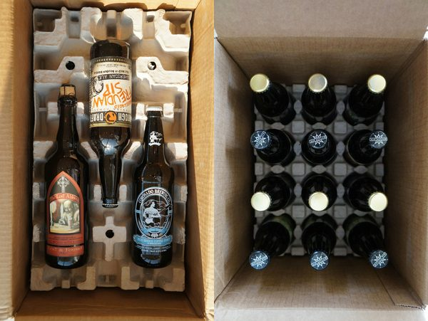 Here is an example of two different size beer shipments from Craft Beer Connect and the Original Craft Beer Club.