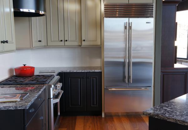 A Built In French Door Refrigerator