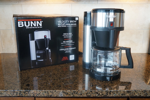 The BUNN Velocity Brew NHS offers on-demand hot water and can quickly brew  successive