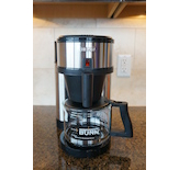 The BUNN Velocity Brew has on-demand hot water and features manual operation.