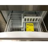 The wire bins have dividers to help keep frozen items better organized.