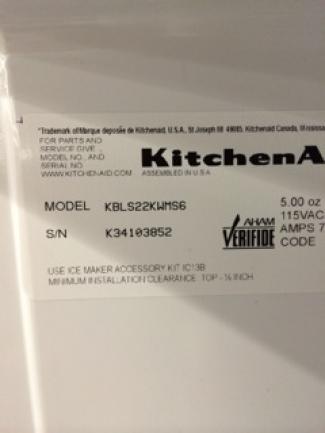 Kitchenaid Kbrs22kw Review