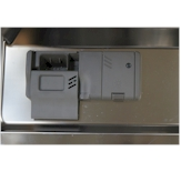 The detergent and rinse aid dispenser are located on the door of the LG LDS5540[ ].