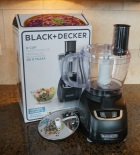 The Black & Decker 8 Cup Food Processor FP1600B.