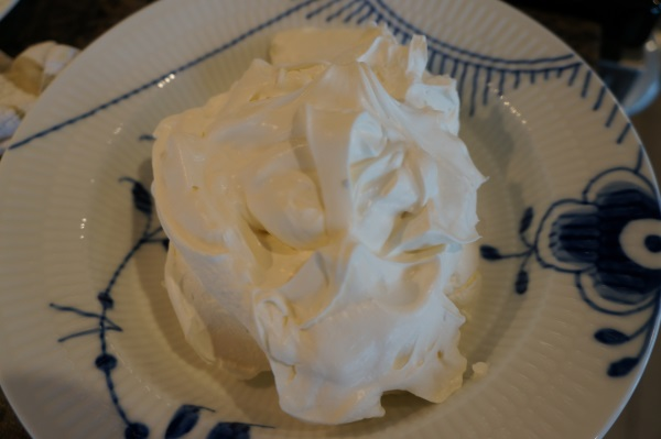 Quick and easy whipped cream.