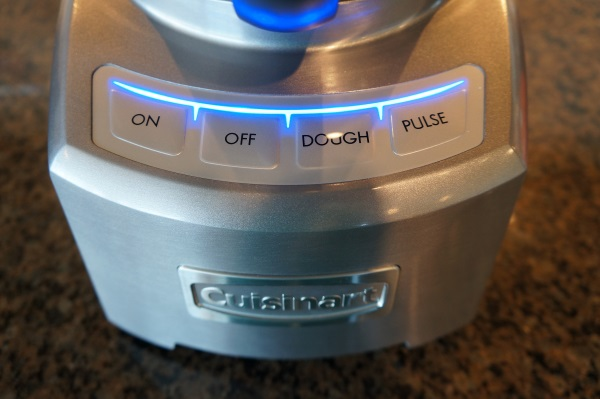 Touchpad controls on the Cuisinart Elite FP-16.