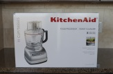 Unpacking the KitchenAid 11-Cup Food Processor.