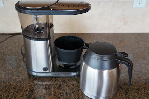 The Bonavita carafe comes with a separate pour lid.