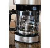 The Kenmore 12-Cup Programmable Aroma Control Coffee Maker uses classic glass carafe and warming plate technology.