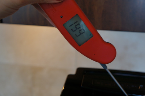 The KCM0801 reached an optimal brewing temperature of 199°F.