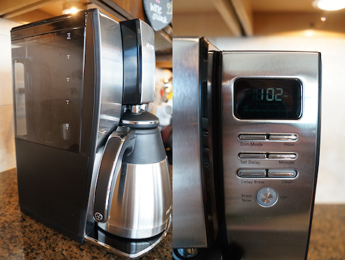 The Mr. Coffee is easy to set up and use.