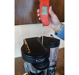 The Ninja© Coffee Bar reached the ideal temperature window with a recorded brew temperature of 201°F.