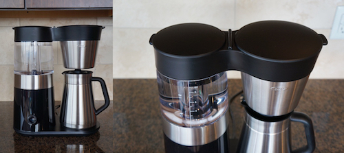 The OXO is well designed and produces a great cup of coffee.